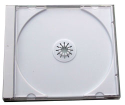 Jewel Case (1 CD) clear with white tray 200 pack