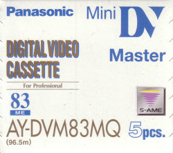 panasonic 83 minute dvm tape
