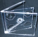 Jewel Case Double (2 CD) clear tray 100 pack