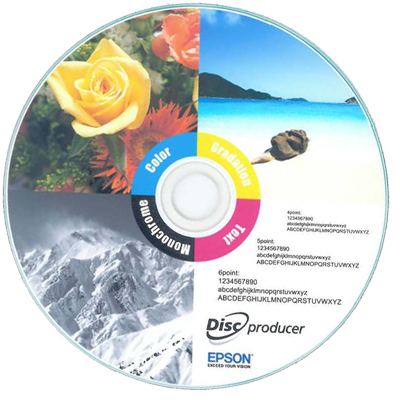 JVC Inkjet professional glossy disc printed on Epson PP-100 Autoprinter