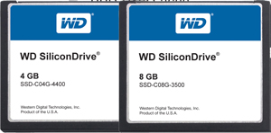silicondrive compact flash cards