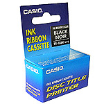 Casio TR-18BL black ribbon suitable for TDK LPCW-50/100 and Casio Disc Title printers