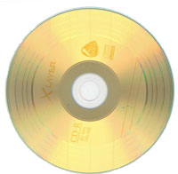 Gold vinyl effect CD-R 80 minute 52 speed 25 pack