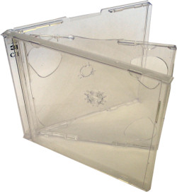 Jewel Case Triple (3 CD) Clear Tray 10 Pack