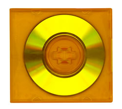 DVD style 8cm translucent orange case with insert sleeve 10 pack