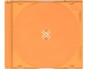 Jewel Case Slimline 100 pack orange back clear front