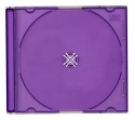 Jewel Case Slimline 10 pack violet back clear front