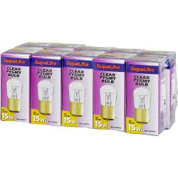 Clear Pygmy Lamp - Boxed 10 15w BC
