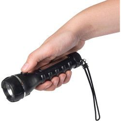 Deluxe Rubber Torch Takes 2x AA Batteries