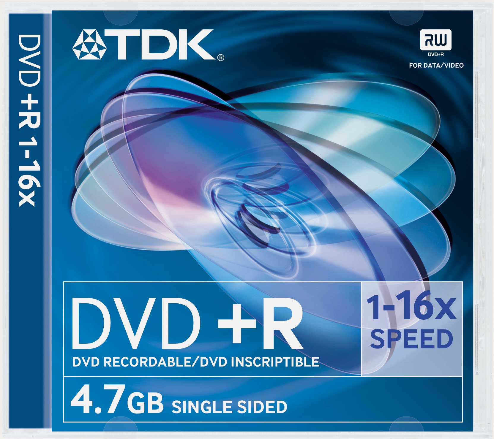 TDK DVD+R in jewel case